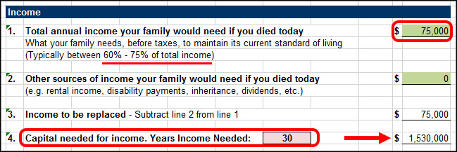 Life Insurance Income Need